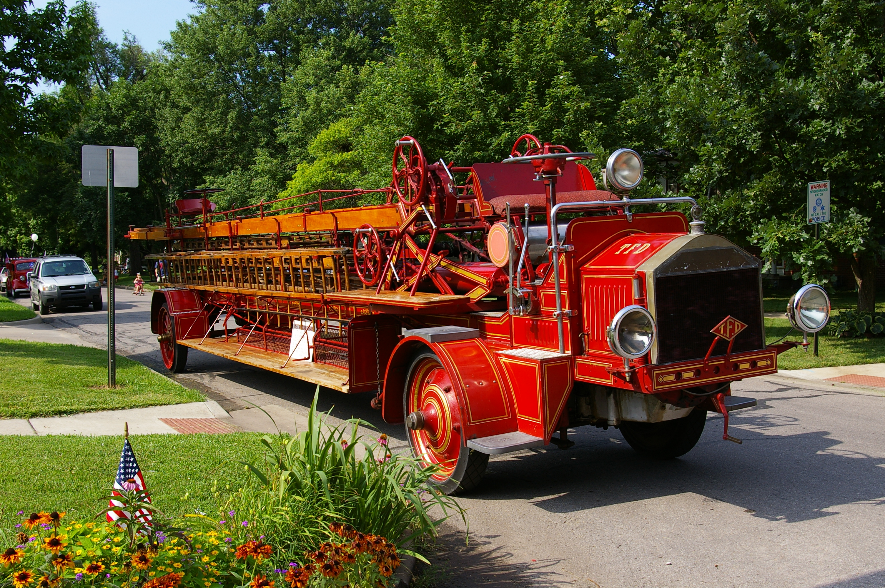 Antique Topeka Fire Engine